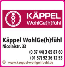 Anzeige Käppel Orthopädie Wohlgefühl GmbH