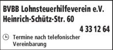 Anzeige BVBB Lohnsteuerhilfeverein e.V.