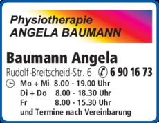Anzeige Baumann Angela
