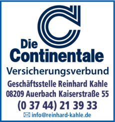 Anzeige Continentale Reinhard Kahle
