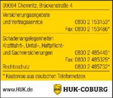 Anzeige HUK-COBURG Angebot & Vertrag