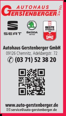 Anzeige Autohaus Gerstenberger GmbH