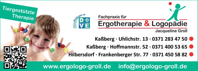 Anzeige Ergotherapie Groll