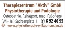 Anzeige Therapiezentrum Aktiv GmbH