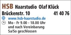 Anzeige Haar Studio HSB