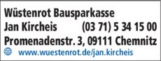 Anzeige Wüstenrot Service Center, Jan Kircheis