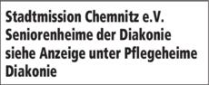 Anzeige Seniorenheime Diakonie Stadtmission Chemnitz e.V.