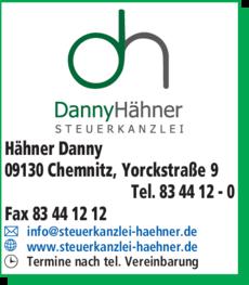 Anzeige Hähner Danny
