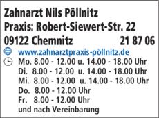 Anzeige Zahnarzt Nils Pöllnitz