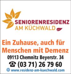 Anzeige Seniorenresidenz Am Küchwald