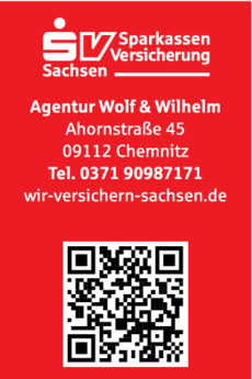 Anzeige Sparkassen-Versicherung Sachsen Agentur Wolf & Wilhelm