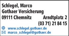 Anzeige Schlegel, Marco Gothaer Versicherung