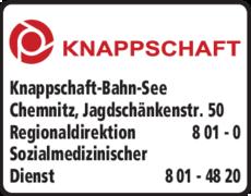 Anzeige KNAPPSCHAFT-Bahn-See Sozialmedizinischer Dienst