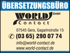Anzeige WORLD Contact
