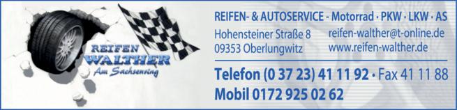 Anzeige Reifen-Walther