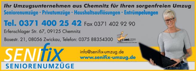 Anzeige Hoyer Senifix Seniorenumzüge