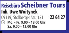 Anzeige Scheibner Tours