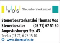 Anzeige Steuerberater Thomas Vos