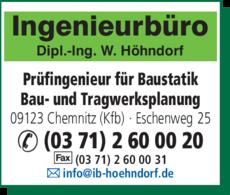Anzeige Ingenieurbüro f. Baustatik