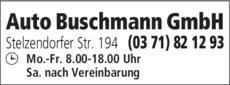 Anzeige Auto Buschmann GmbH