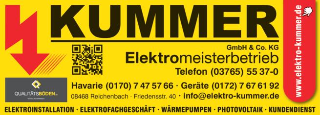 Anzeige Elektro Kummer