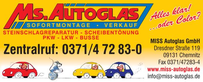 Anzeige Auto-Glas Ms. Autoglas
