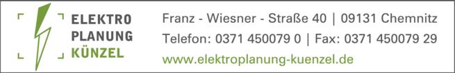 Anzeige Künzel Elektroplanungsbüro