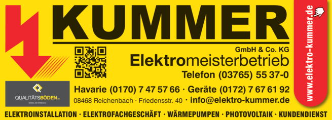 Anzeige Photovoltaik Kummer