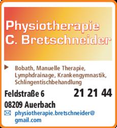Anzeige Bretschneider Physiotherapie