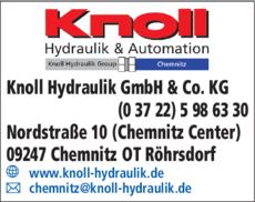 Anzeige Knoll Hydraulik GmbH & Co. KG