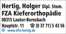 Anzeige Hertig Holger Dipl. Stom