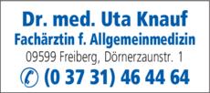 Anzeige Knauf Uta Dr.med.