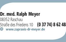 Anzeige Meyer, Ralph Dr. med. Zahnarzt