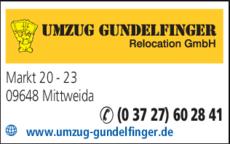 Anzeige Umzug Gundelfinger Relocation GmbH