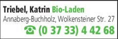 Anzeige Triebel, Katrin Bio-Laden