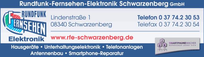 Anzeige Hausgeräte-Rundfunk-Fernsehen-Elektronik Schwarzenberg GmbH