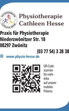 Anzeige Physiotherapie Cathleen Hesse
