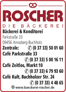 Anzeige Bäckerei & Konditorei Roscher OHG