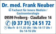 Anzeige Neuber Frank Dr.med.