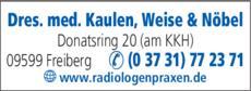 Anzeige Radiologische Gemeinschaftspraxis
