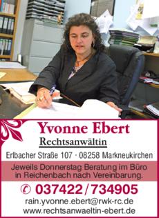 Anzeige Anwaltsbüro Ebert Yvonne