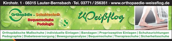 Anzeige Orthopädie-Schuhtechnik Weißflog GmbH