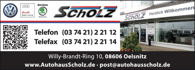 Anzeige Autohaus Scholz GmbH