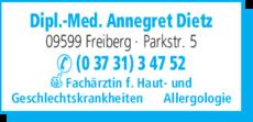 Anzeige Dietz Annegret Dipl.-Med.