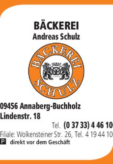 Anzeige BÄCKEREI Andreas Schulz