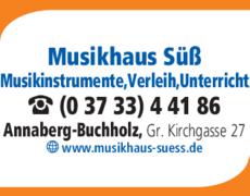 Anzeige Musikhaus Süß
