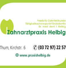 Anzeige Helbig Zahnarztpraxis