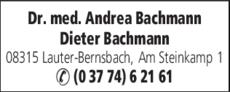Anzeige Bachmann Andrea u. Dieter Dr. med.