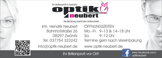 Anzeige Augenoptik Neubert