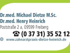 Anzeige Dietze Michael Dr.med. M.Sc., Heinrich Henry Dr.med.